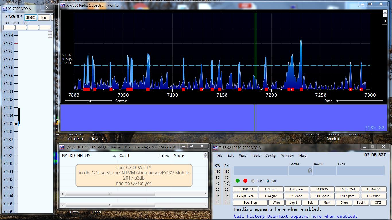 IC-7300 Spectrum Display with N1MM+ – Kg3v Ham Radio Blog
